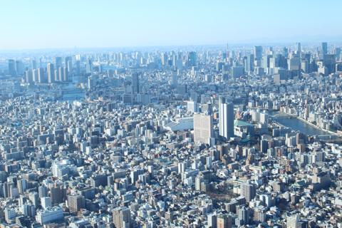 東京スカイツリーから見る風景