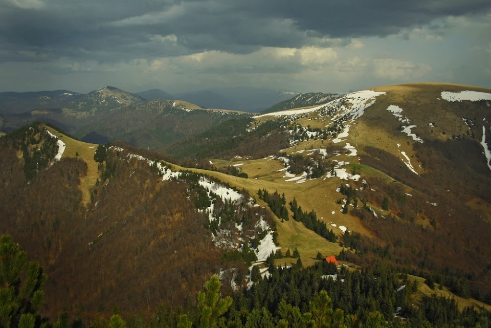 Soporon i Ploska - ze szlaku na Borisov