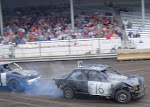 There was double Figure 8 racing in the stadium before the show...like NASCAR with ADD, a wreck every 5 seconds