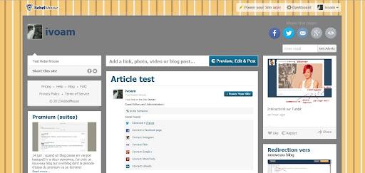 Page test avec fonds modifiés