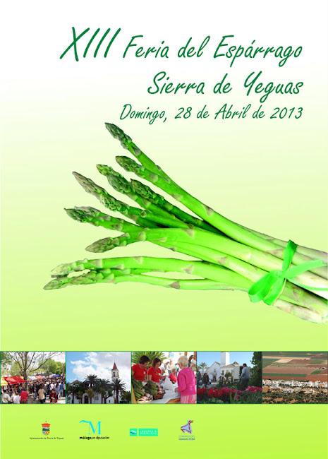 Cartel XIII Feria del Espárrago. Sierra de Yeguas