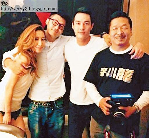 餘文樂為 Kary MV《人非草木》做導演,專程飛到台灣拍攝,搵來楊祐寧(右二)做男主角,兩人對足三日三夜即告撻著。