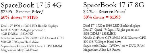 GScreen SpaceBook