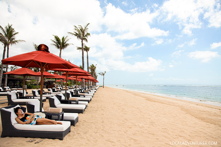 Nusa Dua Beach part of Hotel St Regis Bali.