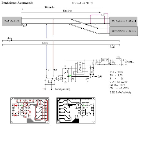 Pendelzugsteuerung - Eigenbau der Automatik - Modell-Land