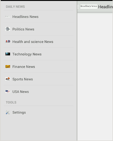 Daily News application Android Daily 01.PNG