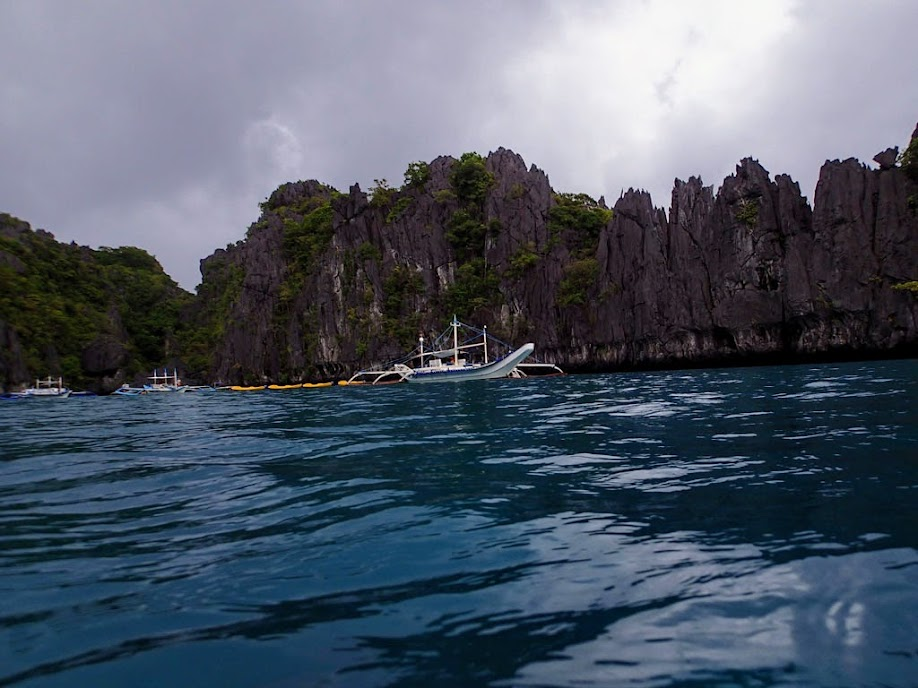 Outside Small Lagoon, Miniloc Island, Palawan, Philippines.