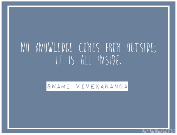 Swami Vivekananda Quotes on Knowledge from Inside