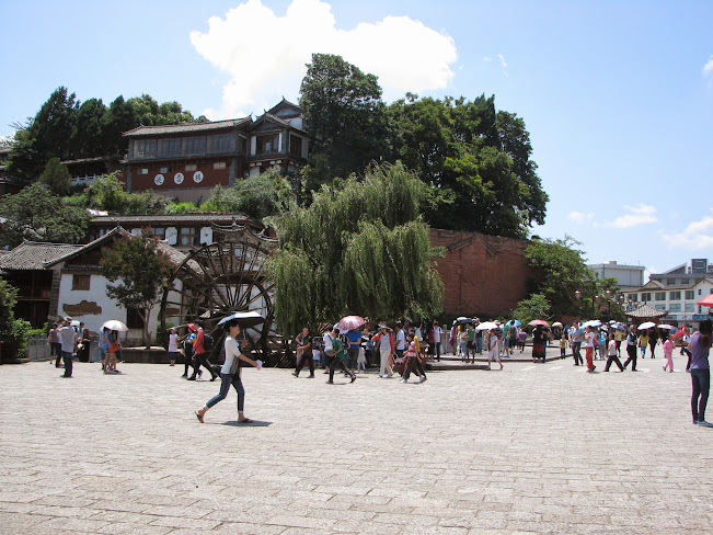 City square of Lijiang Old City, Yuunan, China (2012)