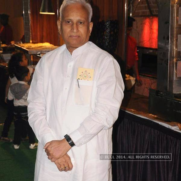 Girish Gandhi during Richa-Gaurav Rughwani's wedding reception, held in Nagpur.