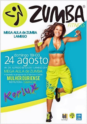 Mega Aula de Zumba da Mulher Duriense - 24 de Agosto - 18H