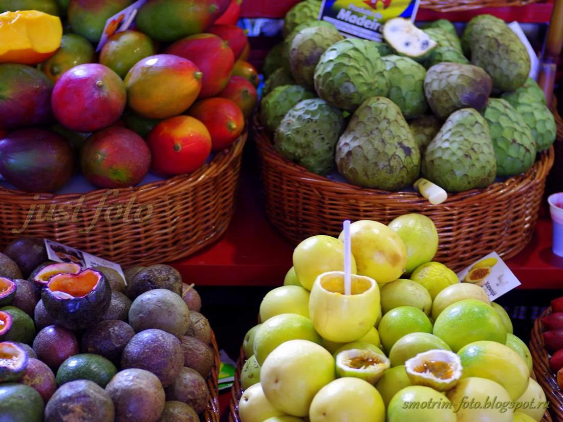Фрукты Мадейры - маракуйя, гибрид маракуйя томат, маракуйя лимон