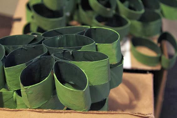 decorando com rolos de papel