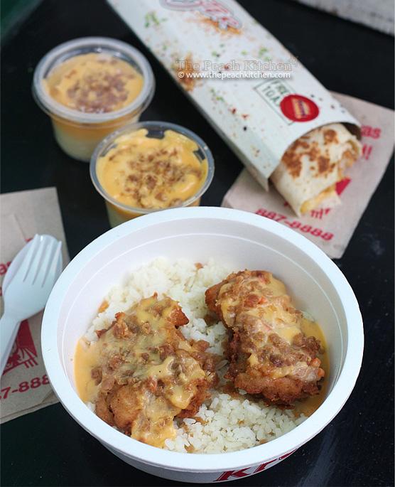 KFC Cheezy Bacon rice, kfc cheezy bacon mashed potato, kfc cheezy bacon twister | www.thepeachkitchen.com