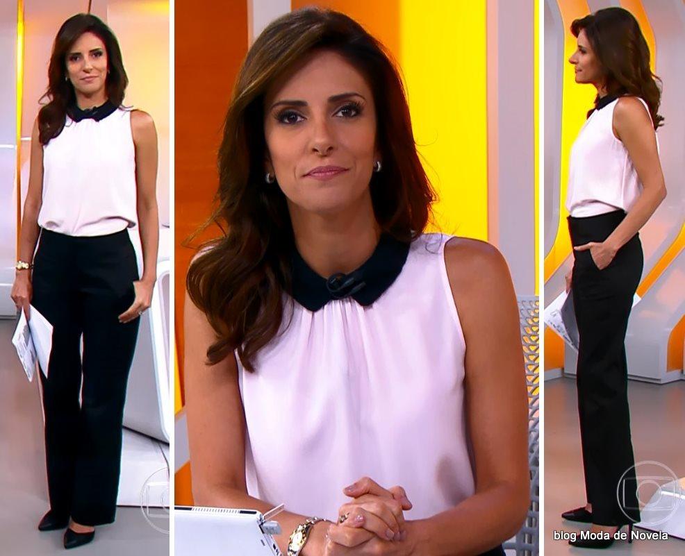 moda do programa Hora 1, look da Monalisa Perrone dia 13 de janeiro de 2014