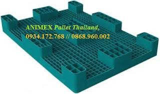 Pallet nhựa 9 chân nhập khẩu Thái Lan