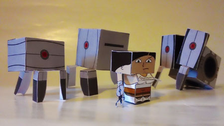 Portal Petites Paper Toy Batch Two