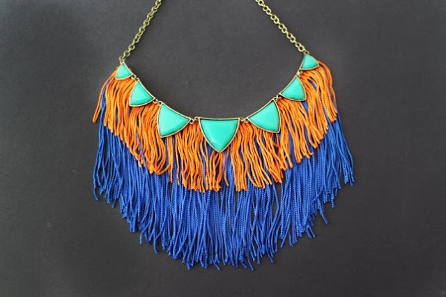 Fringe Statement Necklace Tutorial by Brit+Co