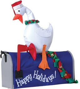 Duck with Wreath Inflatable Mail Box Cover
