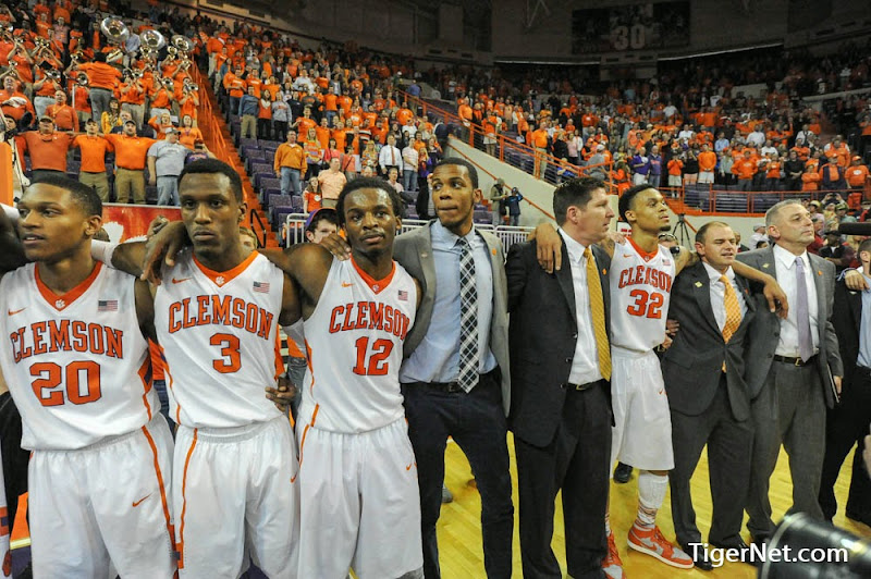 Clemson vs Belmont (NIT) Photos - 2014, Adonis Filer, Basketball, Brad Brownell, Jordan Roper, K.J. McDaniels, Rod Hall. Jaron Blossomgame