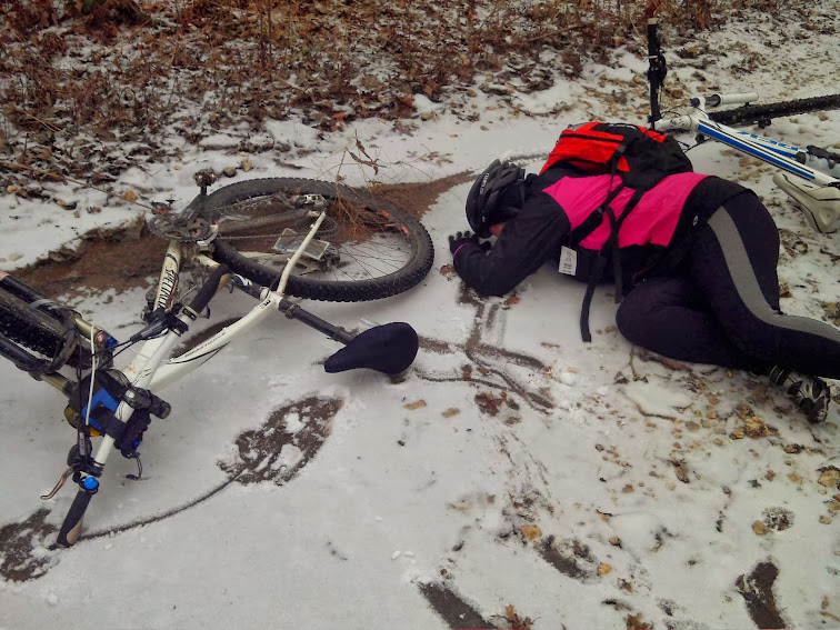 Icy crash on the Berryman Trail