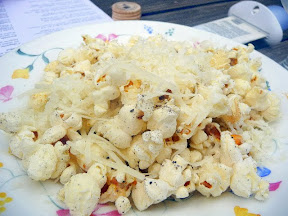 Parmesan and pepper popcorn to snack on at The Hop and Vine, Portland.