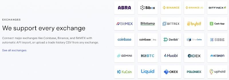 tokentax exchanges