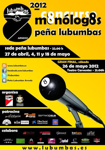 VIII CONCURSO DE MONÓLOGOS PEÑA LUBUMBAS 2012