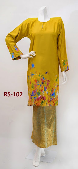 baju raya 2014 limited edition terkini mustard fesyen baju kurung pesak gantung murah online cantik