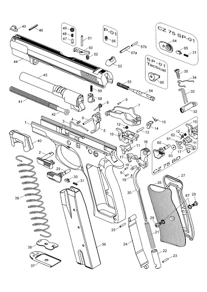 Break down and Polish of CZ 75 SP01 Tactical / 75 BD / P01 - Gunsmithing Forum