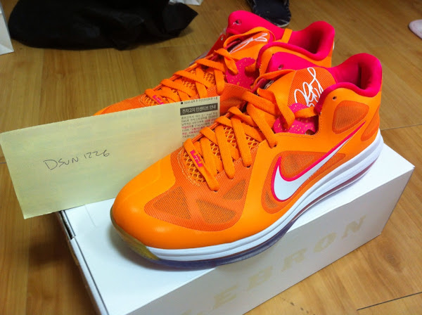 LeBron 9 Low 8220Floridians8221 With a Special Lionhead Outsole