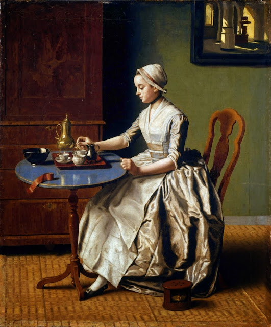 Jean-Étienne Liotard - Lady Pouring Chocolate