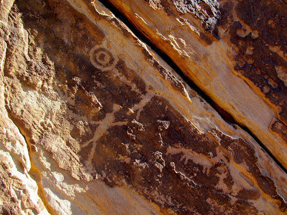Petroglyphs on the way to Ferron Box