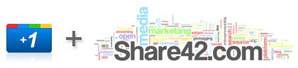 Добавляем кнопку Google +1 в панель от Share42.com
