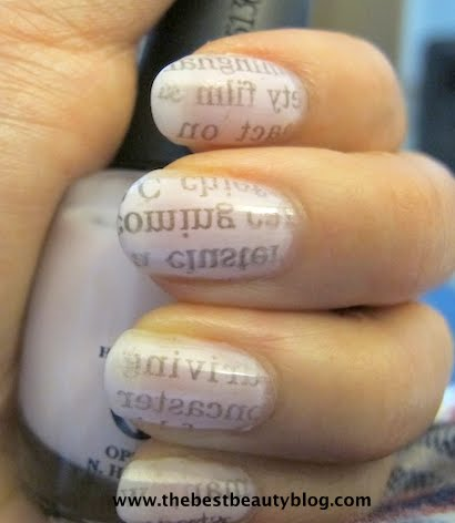 Newspaper print nails the best beauty blog easy newspaper nails to prinsesfo Images
