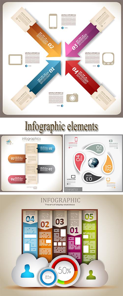 Stock: Infographic graphics, elements and charts