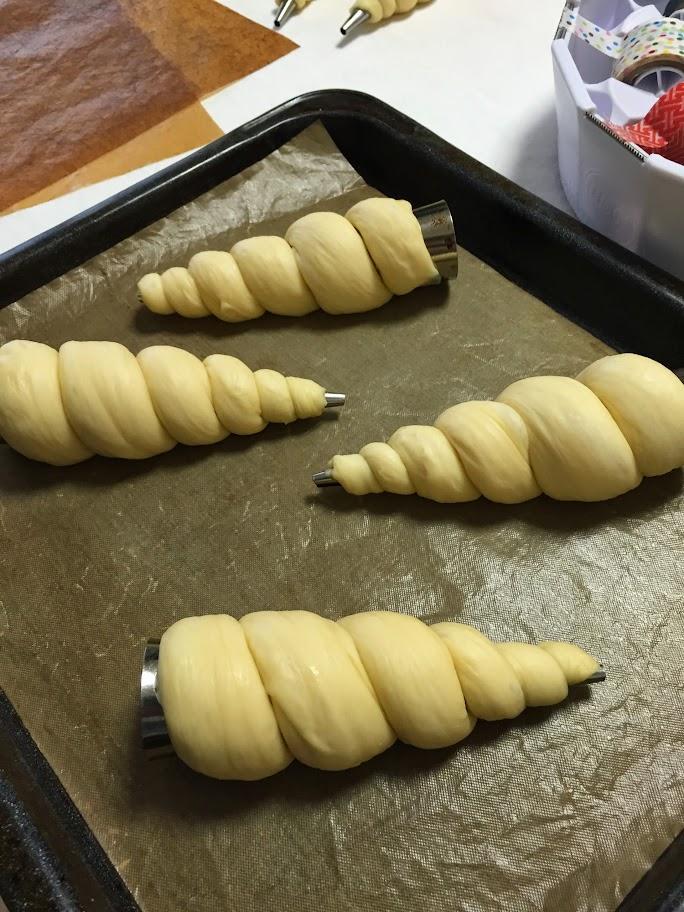 パン教室4回目 コルネ・クリームパン・ロールケーキ