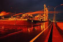 An oil refinery in Mina-Al-Ahmadi, Kuwait