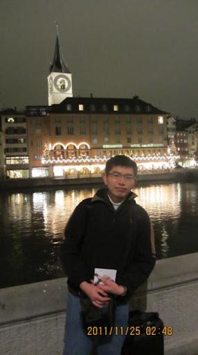 我在美麗的蘇黎世,我在瑞士,2011年11月。