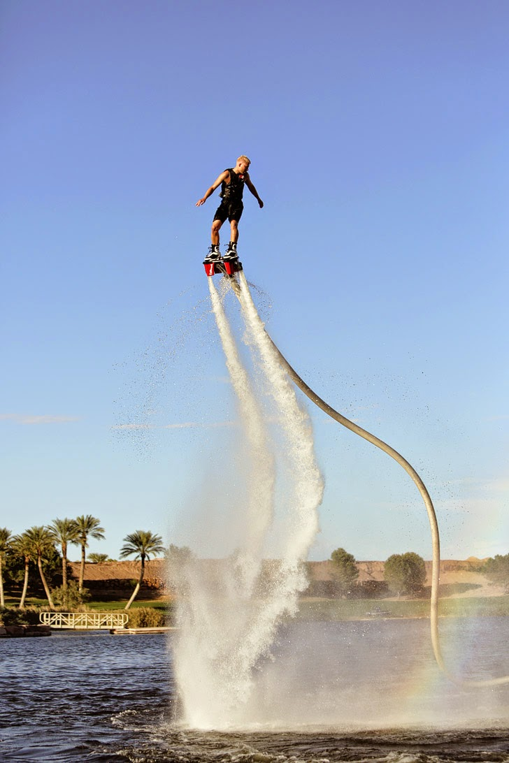 5 Las Vegas Outdoor Activities - Flyboard Rental at Lake Las Vegas.