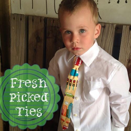 Fresh picked ties, Easter ties, boy ties