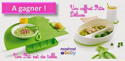 jeu concours Mastrad baby assiette couverts set de table bébé