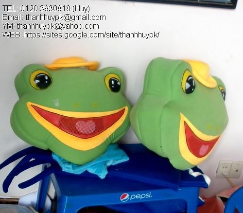 quàn áo con ếch đực và éch cái , đồng phục linh vật con ếch