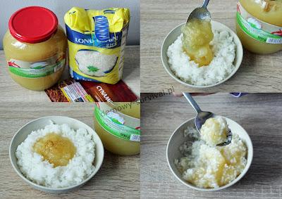 ryż z duszonymi jabłkami z zapasów