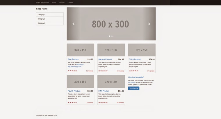 Free Bootstrap Themes Shop Homepage Templates