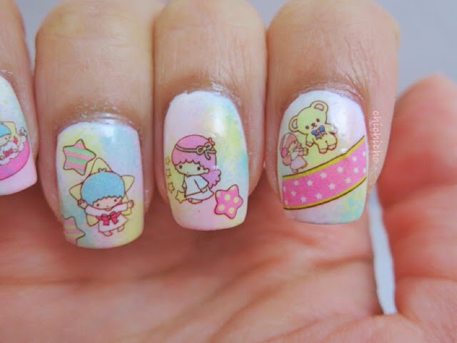 Little Twin Stars Water Decal Nail Art