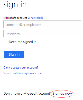 Sign in Hotmail Account