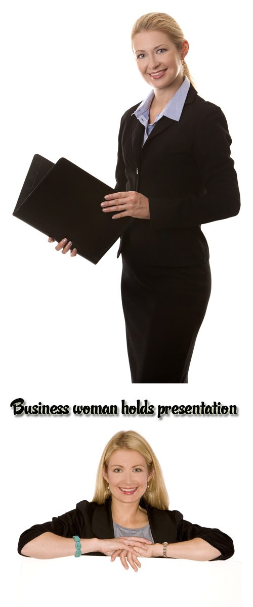 Stock Photo: Business woman holds presentation