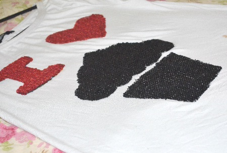 DIY - Camiseta I Love Cupcake