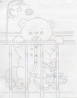risco de ursinho no berço